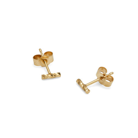 MINI,DIAMOND,BAR,STUD,EARRINGS,-,GOLD