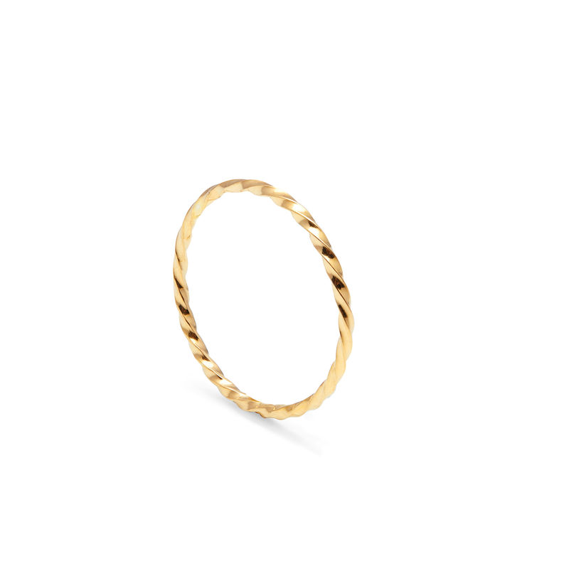 SKINNY TWIST STACKING RING - GOLD - product image