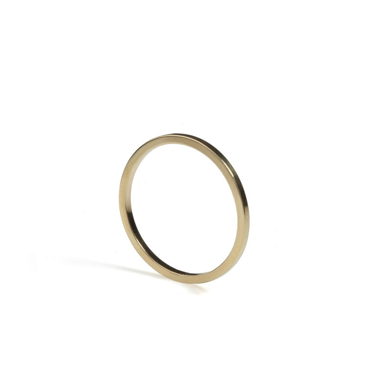 SKINNY SQUARE STACKING RING - GOLD - product images  of
