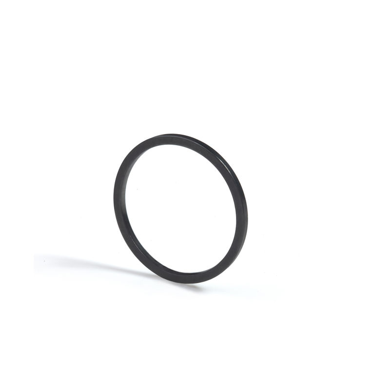 SKINNY SQUARE STACKING RING - BLACK - product image
