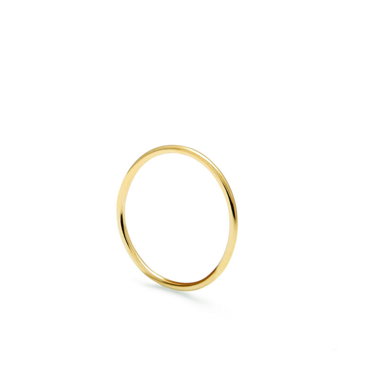 SKINNY ROUND STACKING RING - GOLD - product images  of