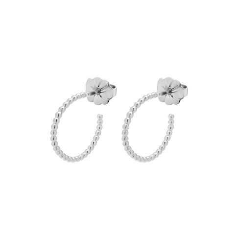 MINI,BALL,HOOP,EARRINGS,-,SILVER