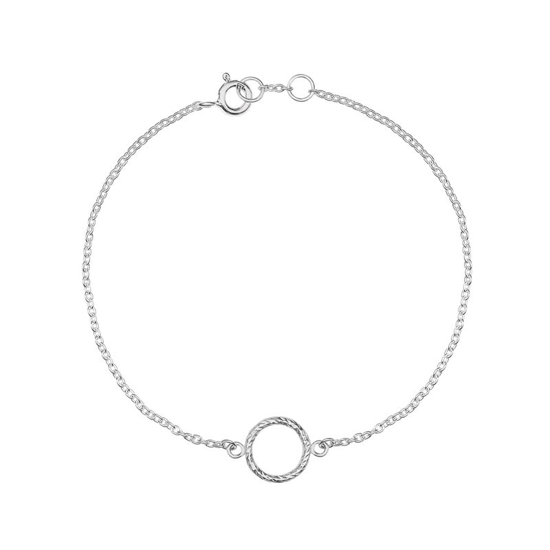 MINI DIAMOND CIRCLE BRACELET - SILVER - product images  of
