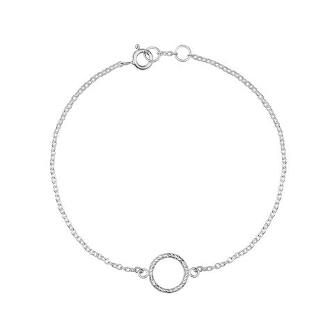 MINI,DIAMOND,CIRCLE,BRACELET,-,SILVER