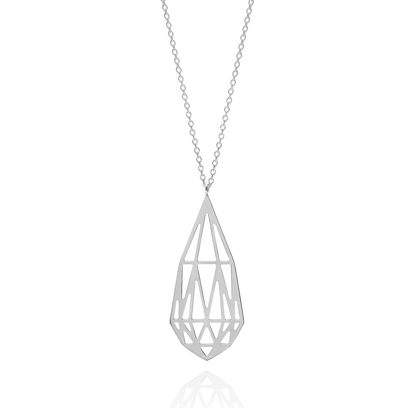 BRIOLETTE DIAMOND NECKLACE - SILVER - product image
