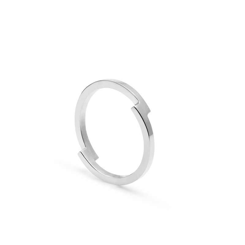 DOUBLE ARC RING - SILVER - product image