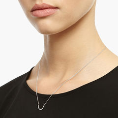 ARC NECKLACE - SILVER - product images  of