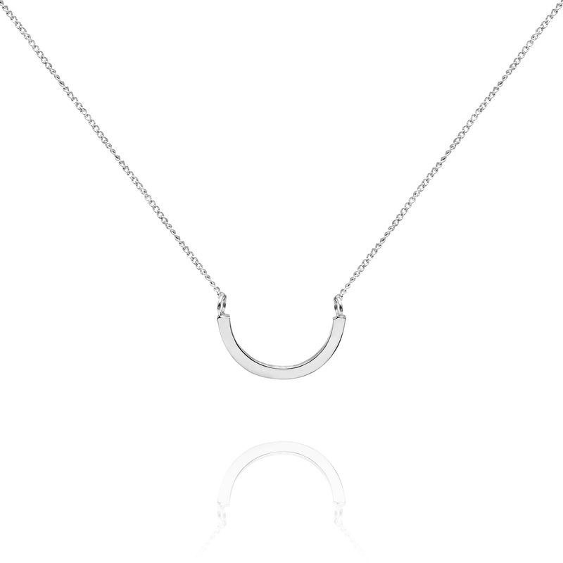 ARC NECKLACE - SILVER - product image