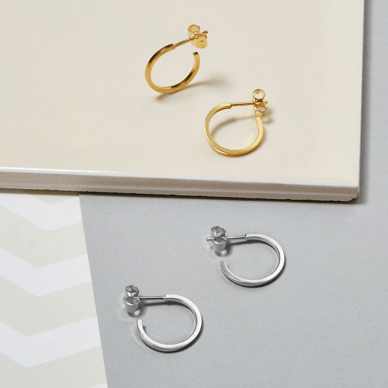 MINI HOOP EARRINGS - GOLD - product image