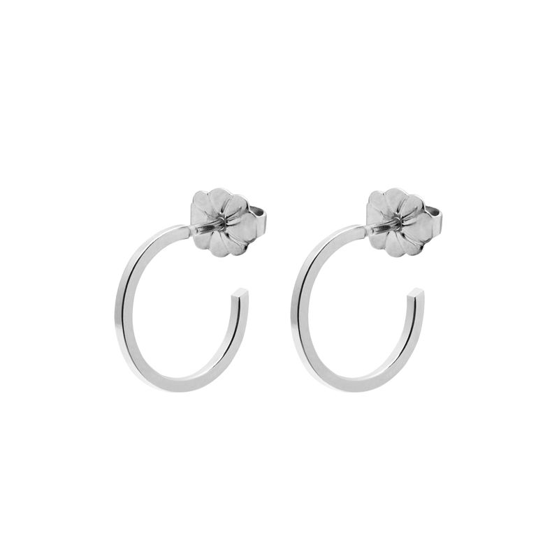 MINI HOOP EARRINGS - SILVER  - product images  of