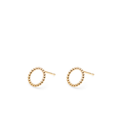 MINI,CIRCLE,BALL,STUD,EARRINGS,-,GOLD
