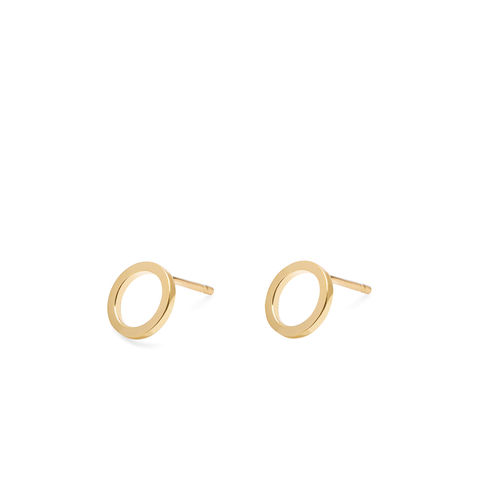 MINI,CIRCLE,EARRINGS,-,GOLD,geometric circle earrings , minimalist