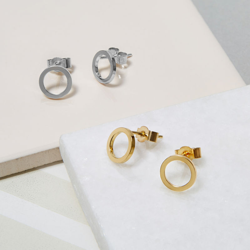 MINI CIRCLE EARRINGS - GOLD - product images  of