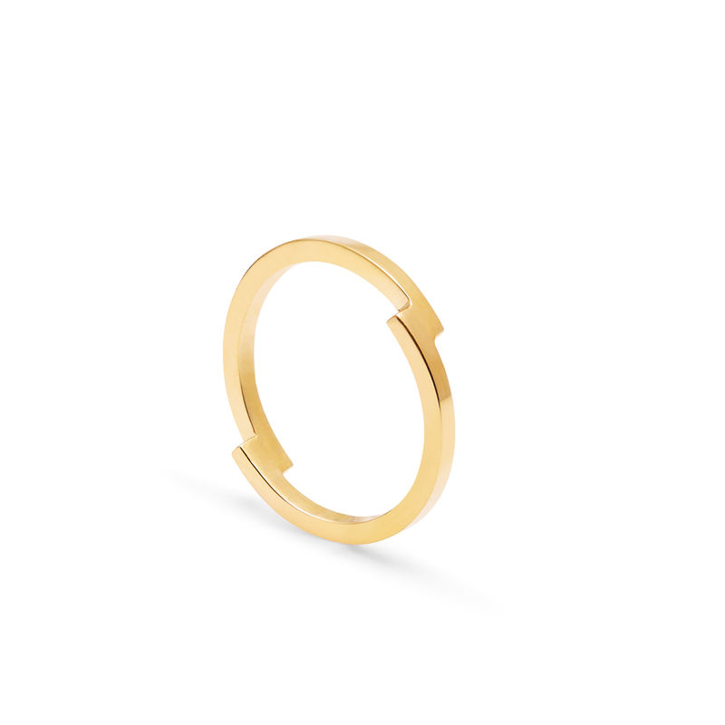DOUBLE ARC RING - GOLD - product images  of
