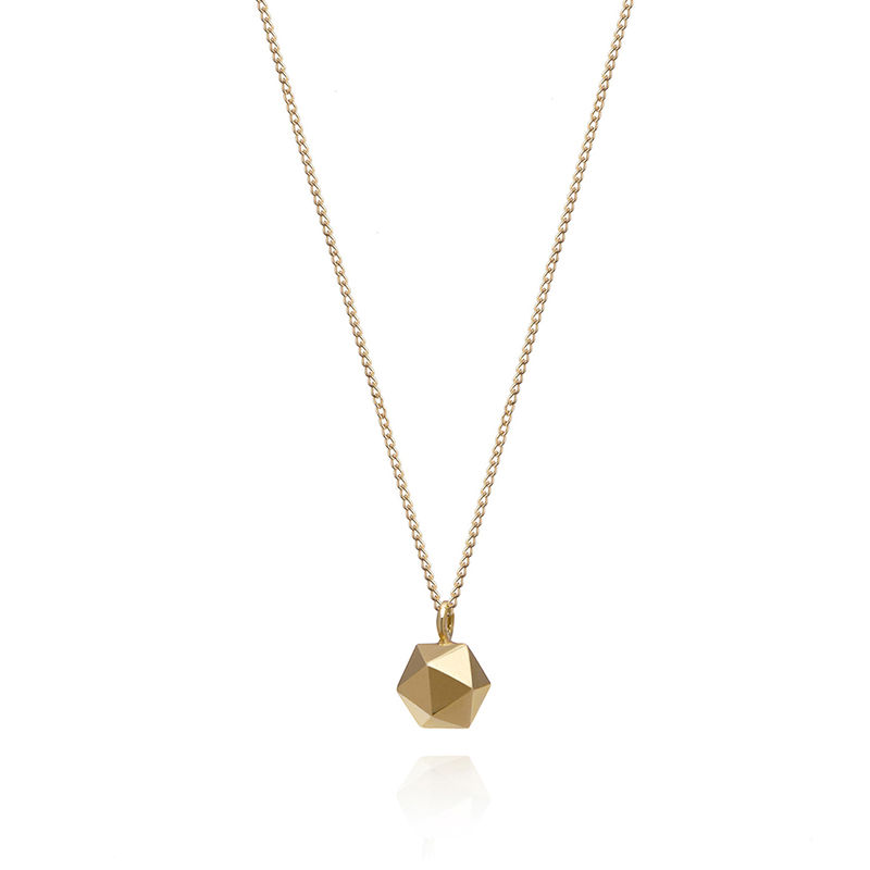 MINI ICOSAHEDRON PENDANT - 9CT GOLD - product image