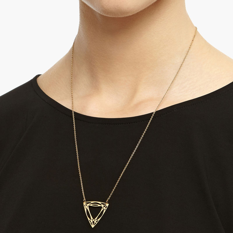 TRILLION DIAMOND NECKLACE - GOLD - product image