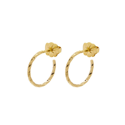 MINI,DIAMOND,HOOP,EARRINGS,-,GOLD