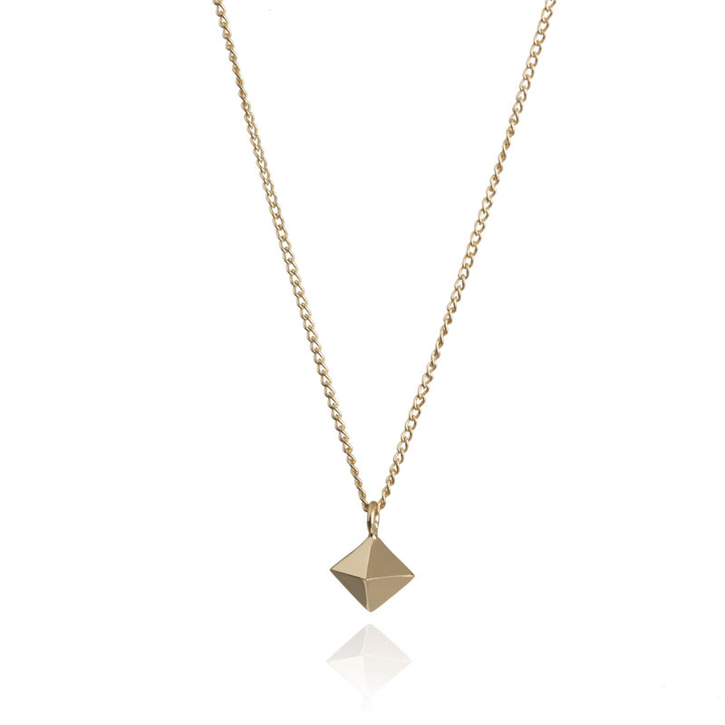 MINI OCTAHEDRON PENDANT - 9CT GOLD - product image