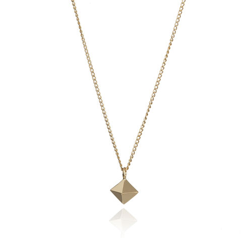 MINI,OCTAHEDRON,PENDANT,-,9CT,GOLD