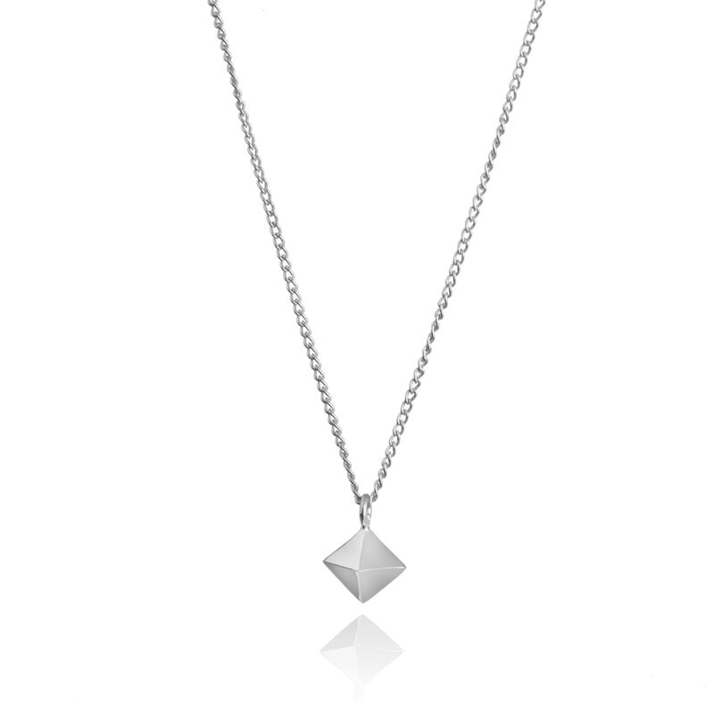 MINI OCTAHEDRON PENDANT - SILVER - product images  of