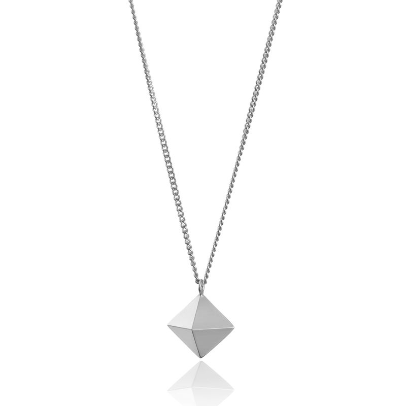 OCTAHEDRON PENDANT - SILVER - product image