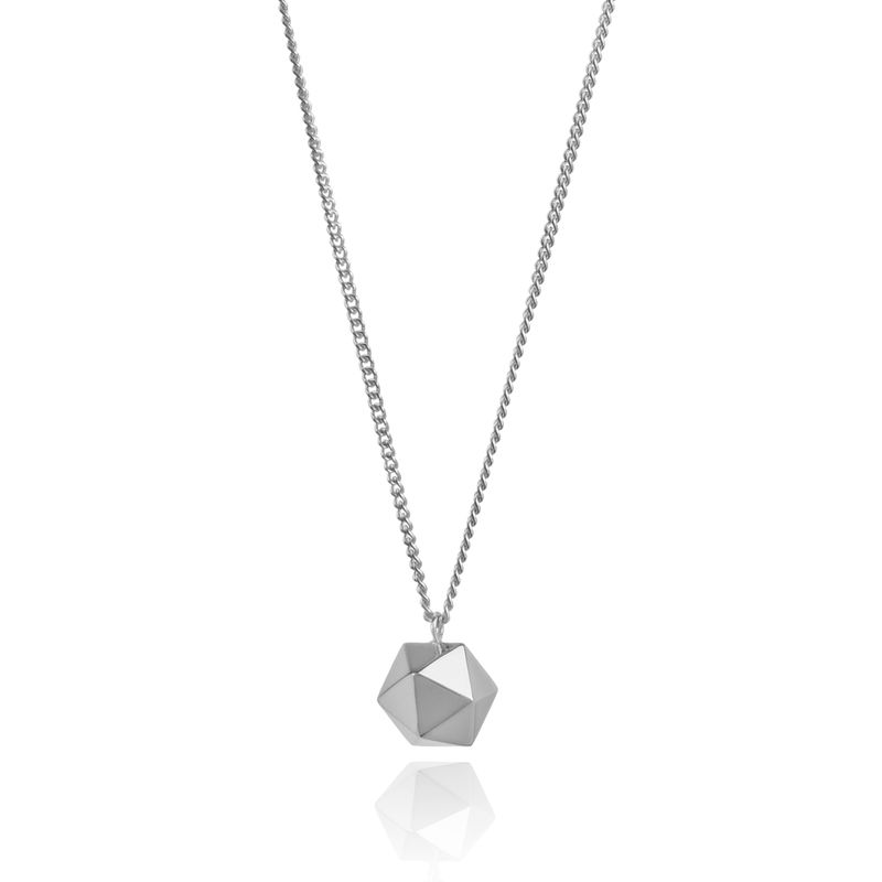 ICOSAHEDRON PENDANT - SILVER - product images  of