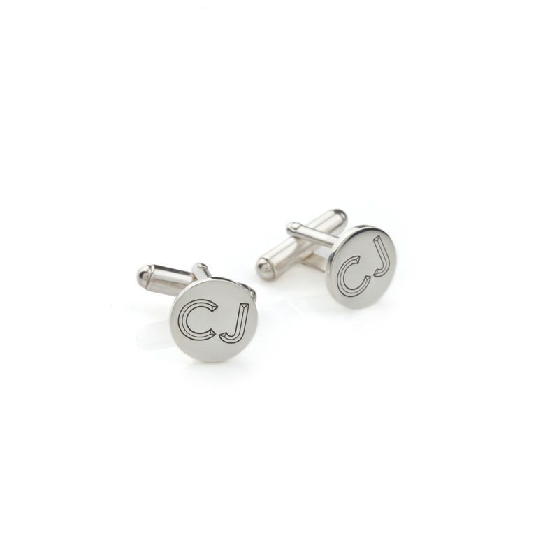FACETT INITIAL CUFFLINKS - SILVER / PERSONALISED  - product images  of
