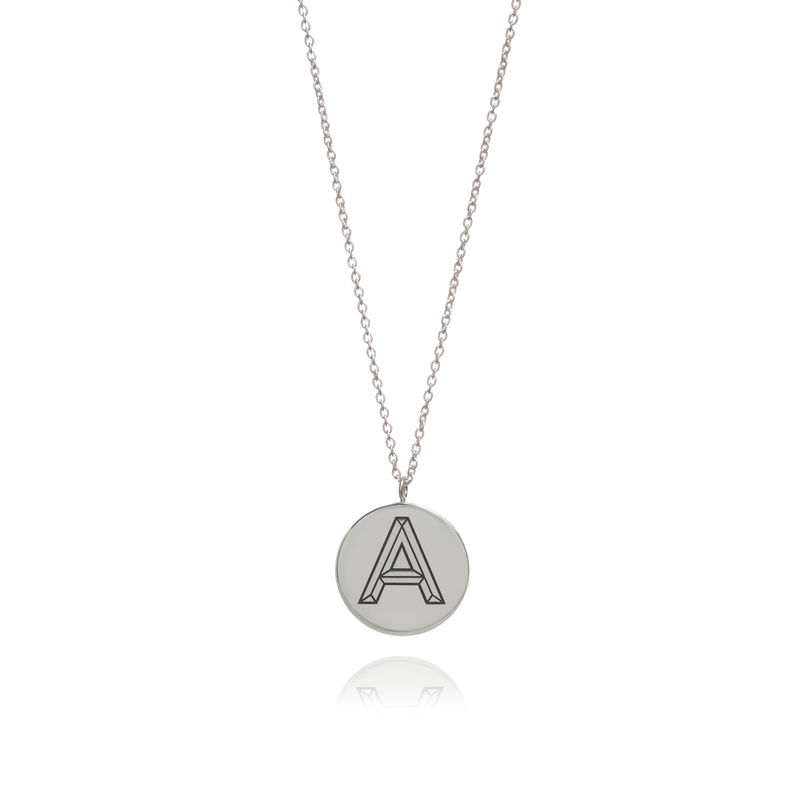 FACETT INITIAL NECKLACE - SILVER / PERSONALISED  - product images  of