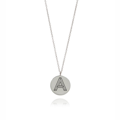 FACETT,INITIAL,NECKLACE,-,SILVER,/,PERSONALISED