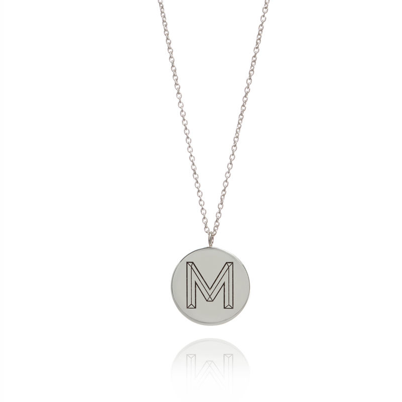FACETT INITIAL NECKLACE - SILVER / PERSONALISED  - product image