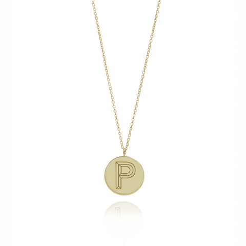 FACETT,INITIAL,NECKLACE,-,9CT,GOLD,/,PERSONALISED
