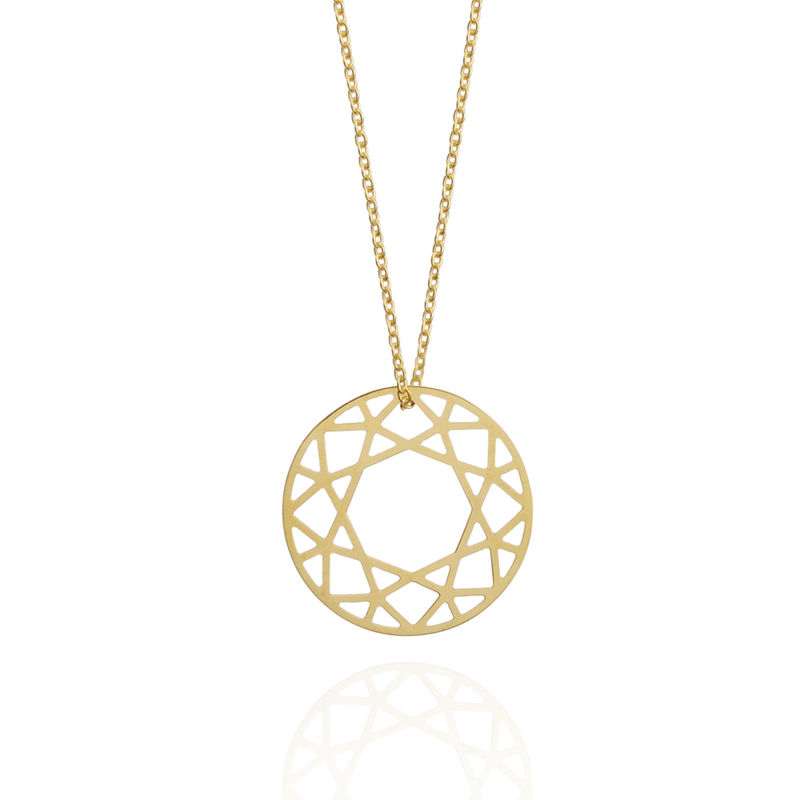 MEDIUM BRILLIANT DIAMOND NECKLACE - 18CT GOLD - product images  of