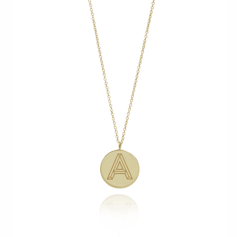 FACETT INITIAL NECKLACE - GOLD / PERSONALISED  - product image