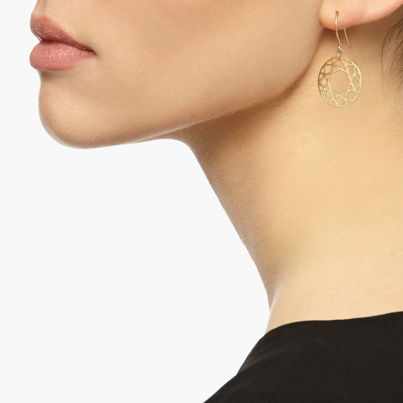 BRILLIANT DIAMOND DROP EARRINGS - GOLD - product image