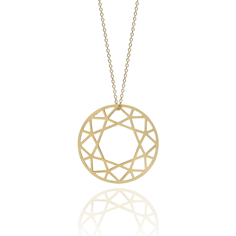 LARGE BRILLIANT DIAMOND NECKLACE - GOLD - product image