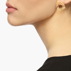 CLASSIC DIAMOND STUD EARRINGS - GOLD - product images  of