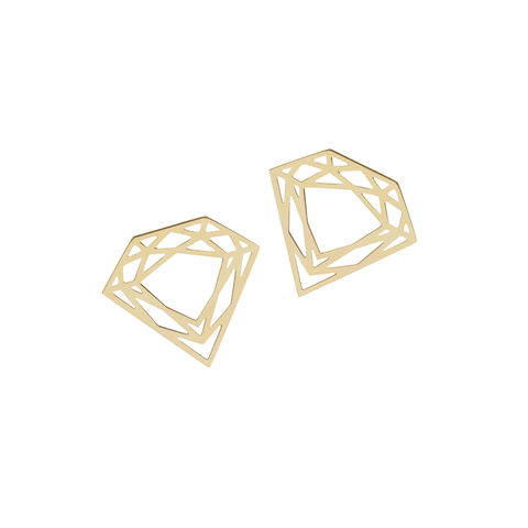 CLASSIC,DIAMOND,STUD,EARRINGS,-,GOLD