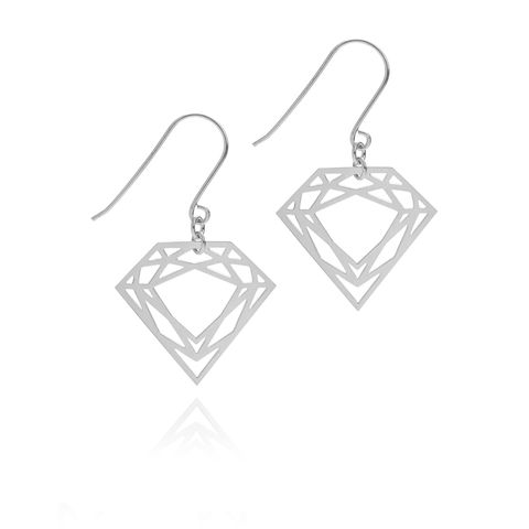 CLASSIC,DIAMOND,DROP,EARRINGS,-,SILVER