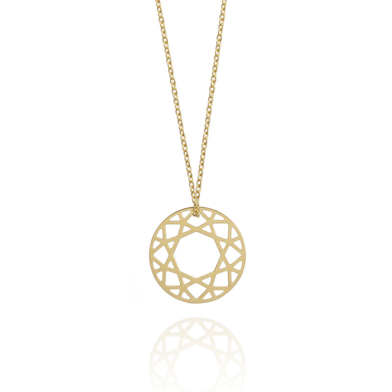 SMALL BRILLIANT DIAMOND NECKLACE - 9CT GOLD - product images  of