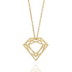 CLASSIC,DIAMOND,NECKLACE,-,9CT,GOLD