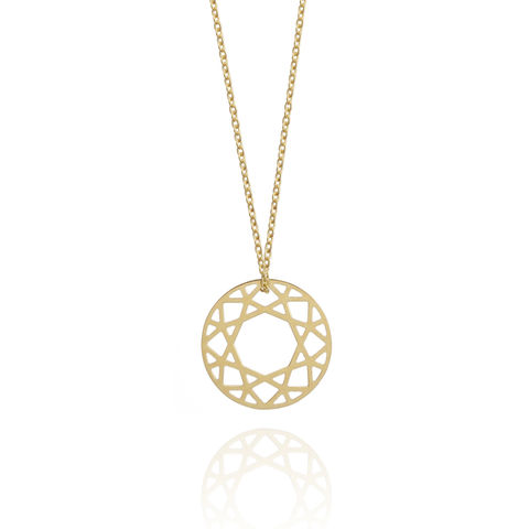 SMALL,BRILLIANT,DIAMOND,NECKLACE,-,GOLD