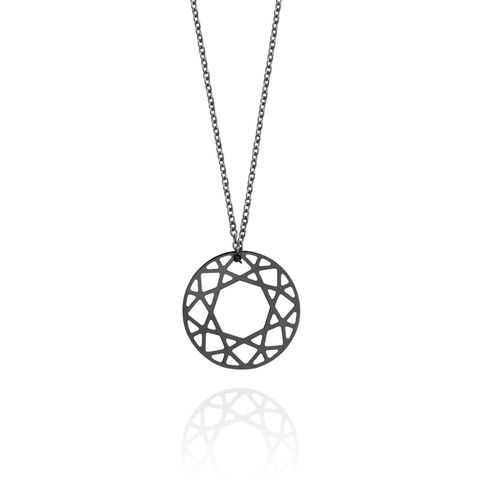 SMALL,BRILLIANT,DIAMOND,NECKLACE,-,BLACK
