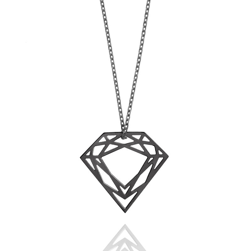 CLASSIC DIAMOND NECKLACE - BLACK - product image