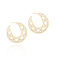 LARGE,BRILLIANT,DIAMOND,HOOP,EARRINGS,-,GOLD