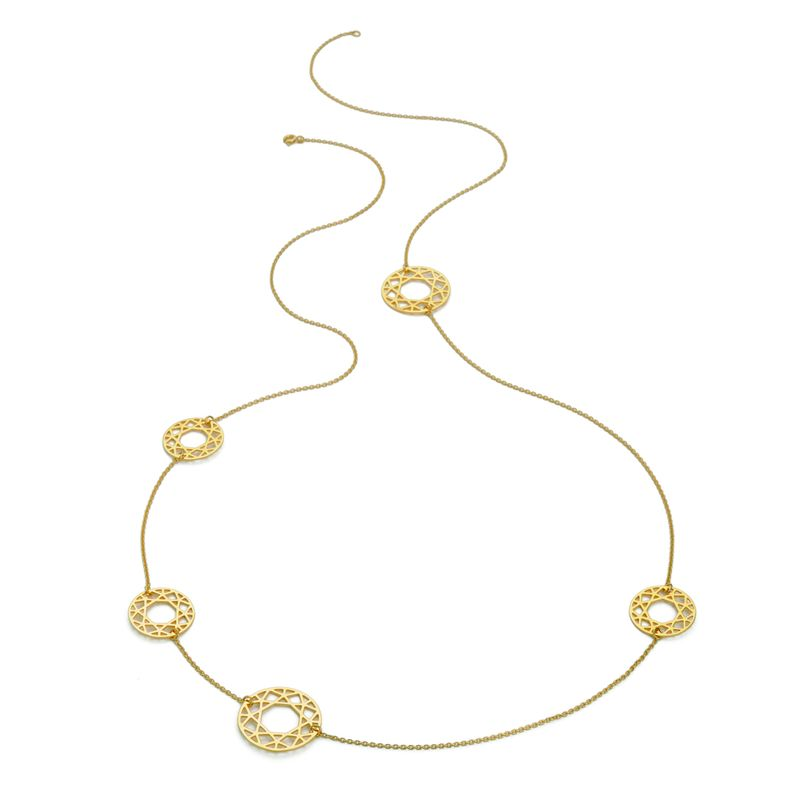 MULTI-BRILLIANT DIAMOND NECKLACE - GOLD - product images  of