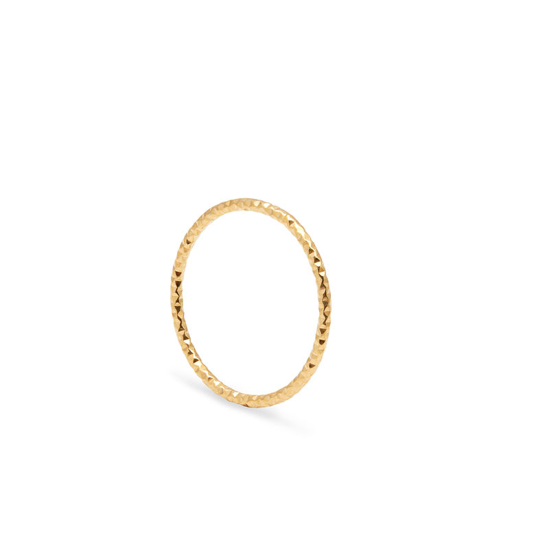 SKINNY DIAMOND STACKING RING - GOLD - product image