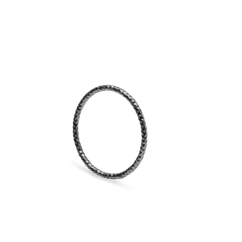 SKINNY DIAMOND STACKING RING - BLACK - product image