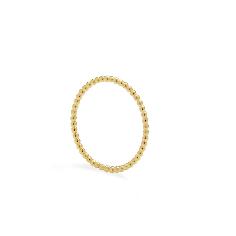 SKINNY BALL STACKING RING - 9CT YELLOW GOLD - product image