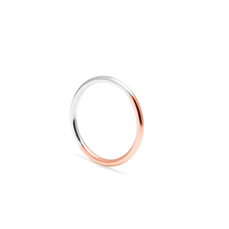 TWO-TONE ROUND RING - ROSE GOLD - product images  of