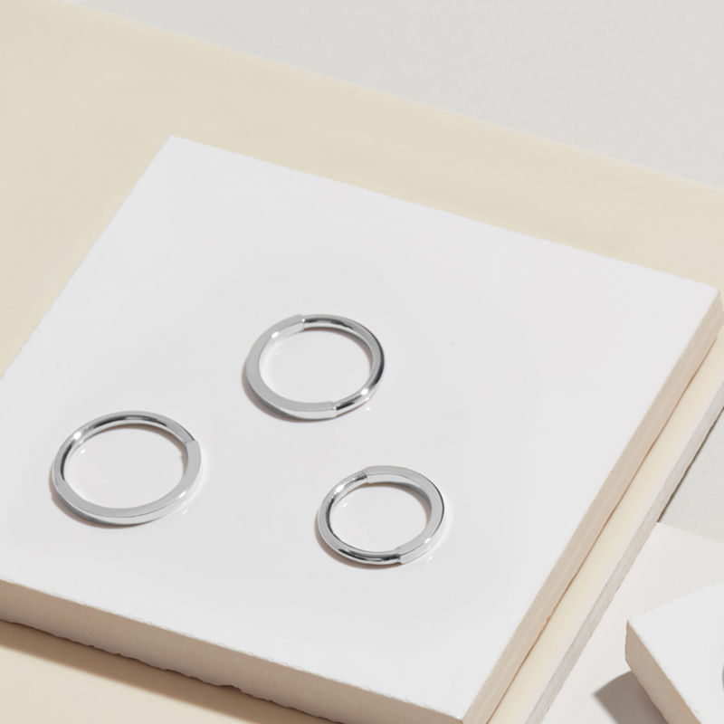 50 ROUND / 50 SQUARE BAND - SILVER - product image